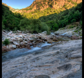 Corsica mountain stream in HDR 2