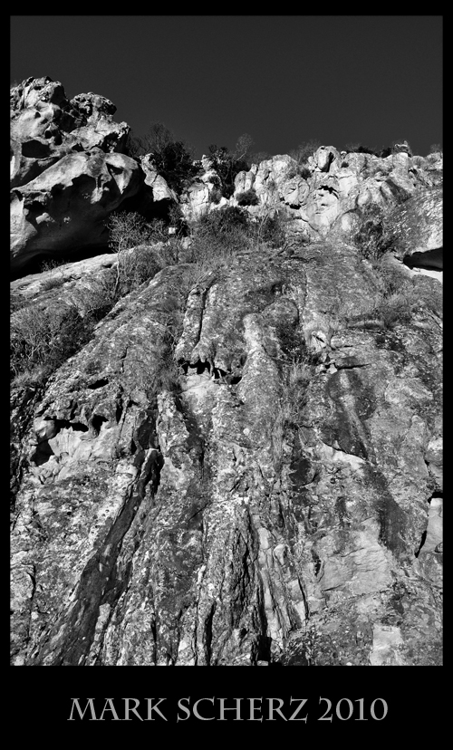 Rocks of Corsica's Calanques in Black and White