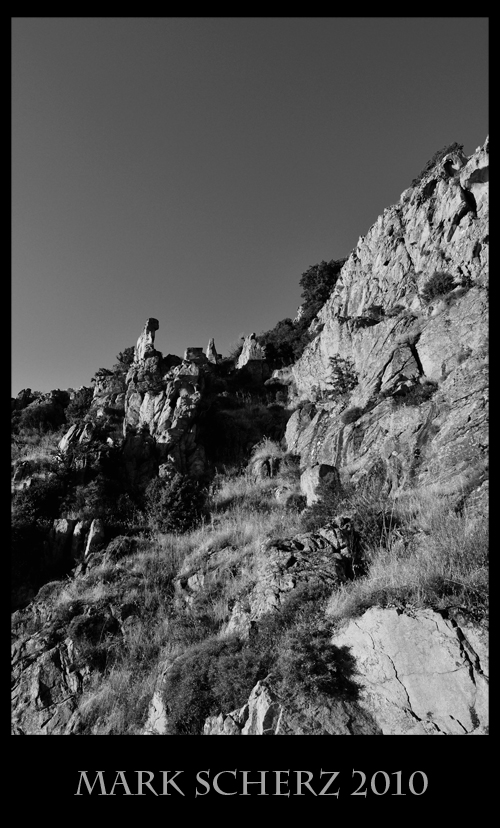 The Calanques of Corsica in black and white 2